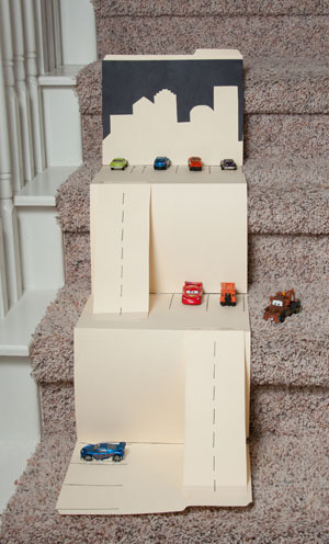 DIY cars play mat