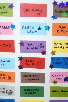preschool kids chore chart