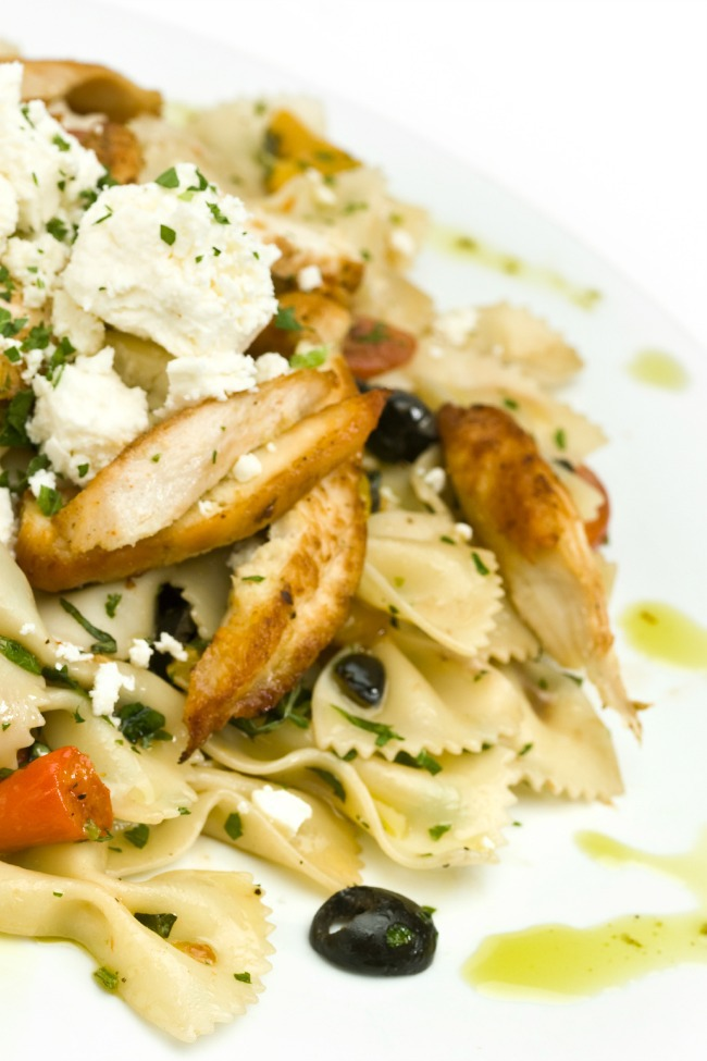 greek pasta chicken salad