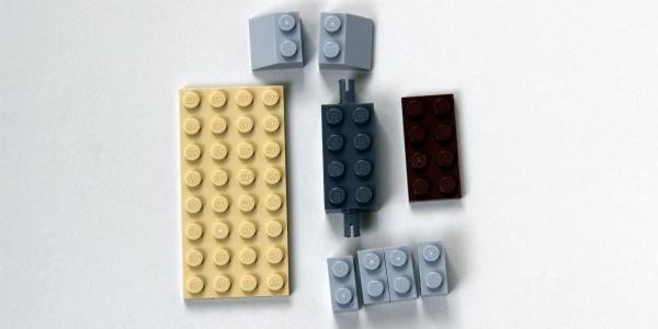 Lego catapult building step 1