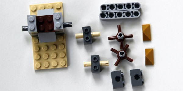 Lego catapult building step 2