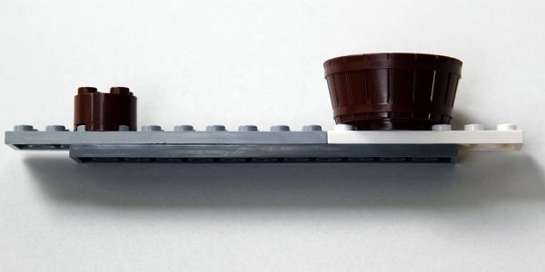 Lego catapult building step 5
