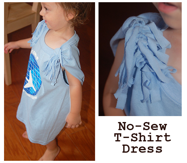 no-sew kids TShirt Dress