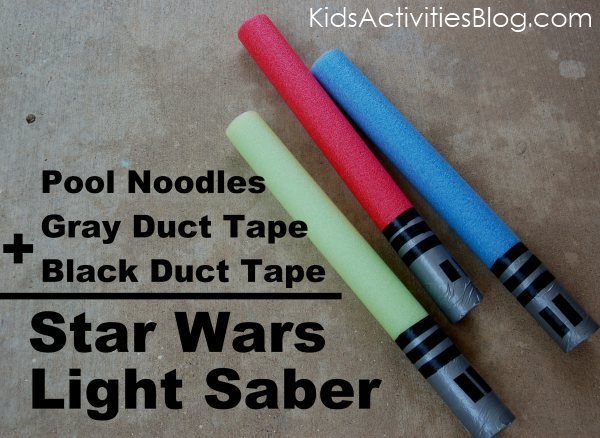 lightsaber from pool noodles