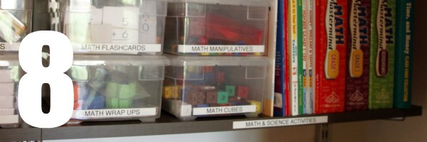 homeschool room closet math manipulatives 8