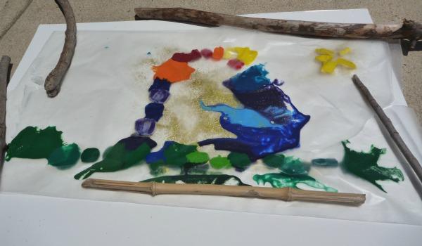 melting crayon art work