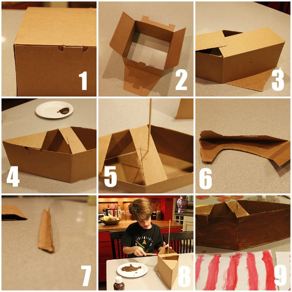 Make a viking ship for How to build box steps