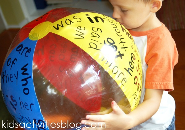 Sight Word activity Ball