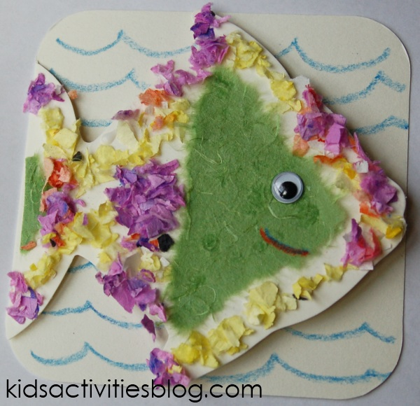 fish card confetti craft