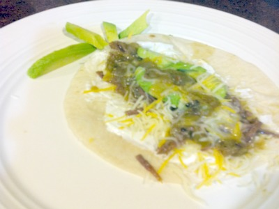 green chile taco