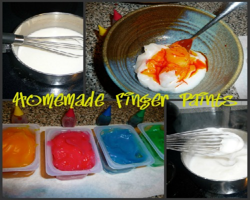 homemade finger paint collage