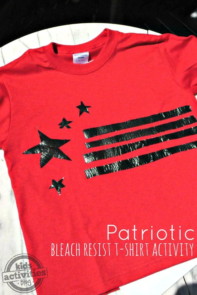 patriotic bleach resist shirt