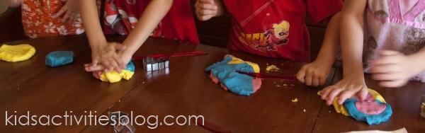 playdough hands kids