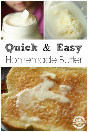 homemade butter to make with kids
