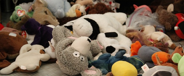 children not cleaning up stuffed animals