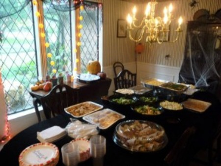 food table at party