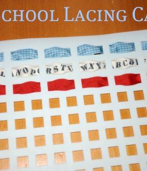 preschool lacing cards