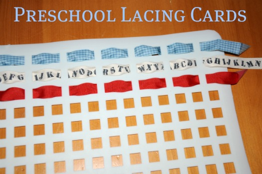 preschool lacing cards