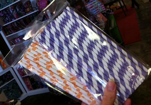retro paper straws
