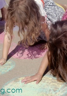 Recess Games: DIY Twister with Chalk