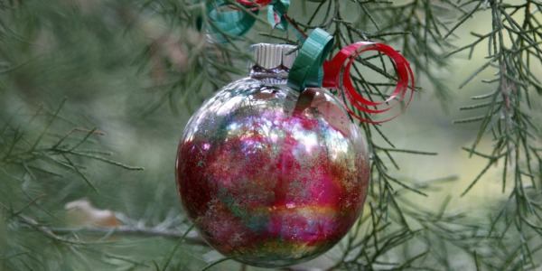 glass christmas balls homemade craft