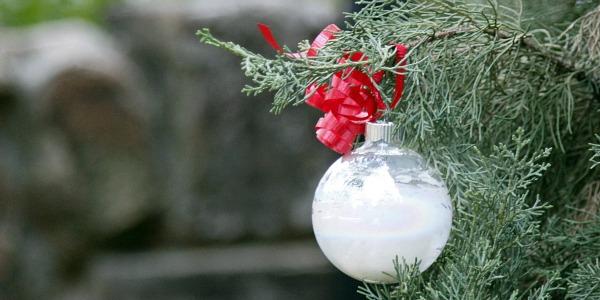 Clear Glass Christmas Ball Ornaments