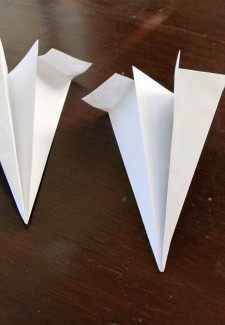 Paper Airplane Game set up