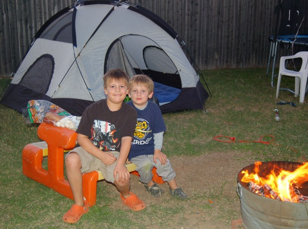 Camping At Home Simple Backyard Fun!