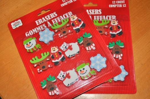 Christmas erasers