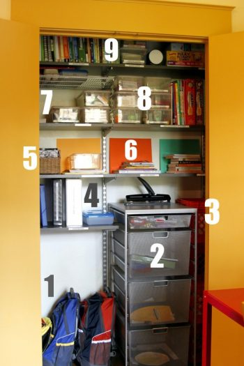 closet organization through sorting