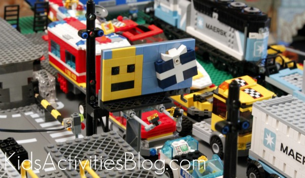 Lego Table traffic jam