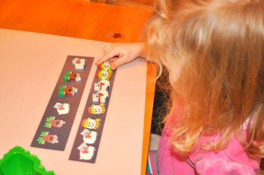 little girl working pattern activity