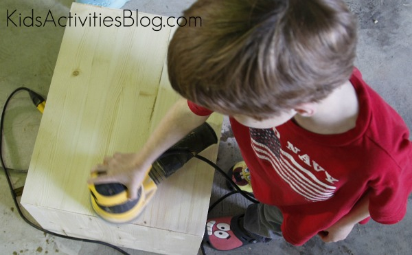 toy chest sanding