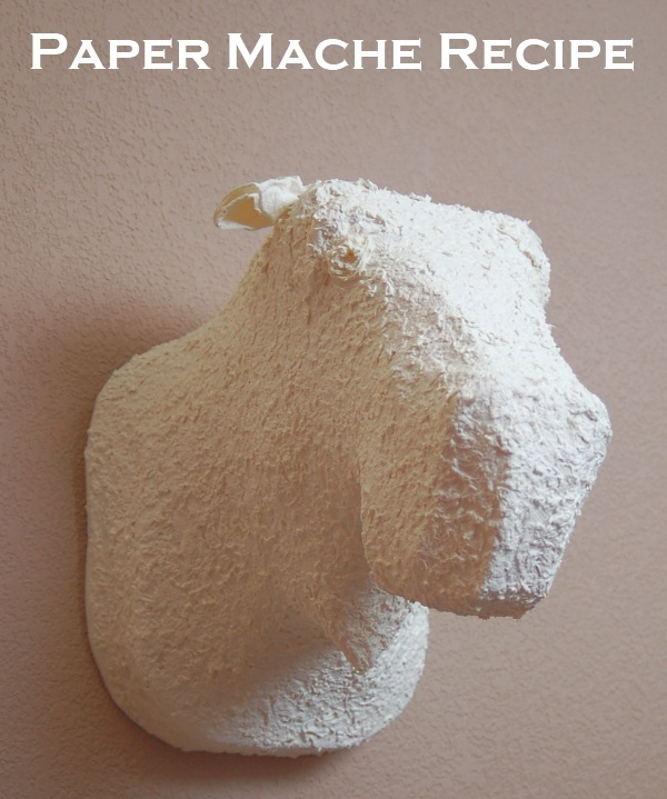Pin paper mache on pinterest for Paper mache ingredients