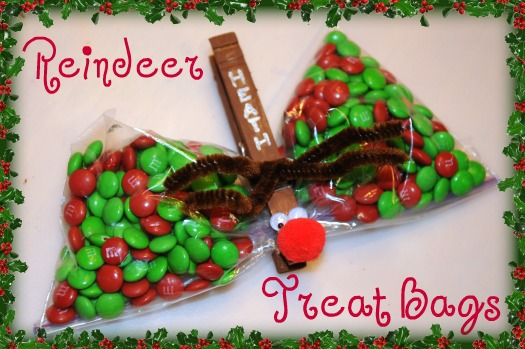 reindeer treat bags with text