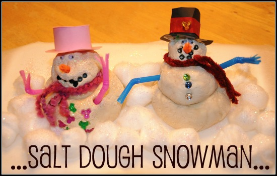 Salt Dough Snowman