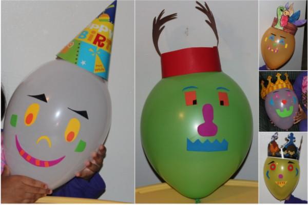 Поделки из бумаги и шарика воздушного
