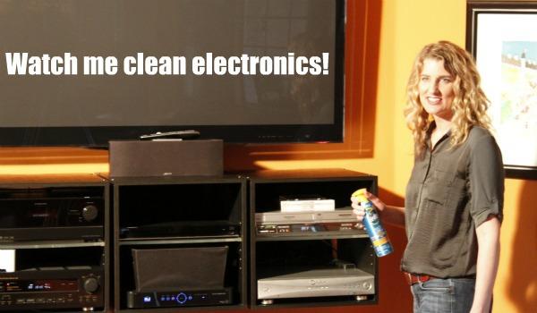 pledge cleaning electronics