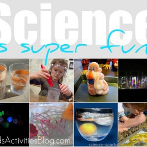 silly science collage