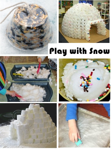 snow themed play