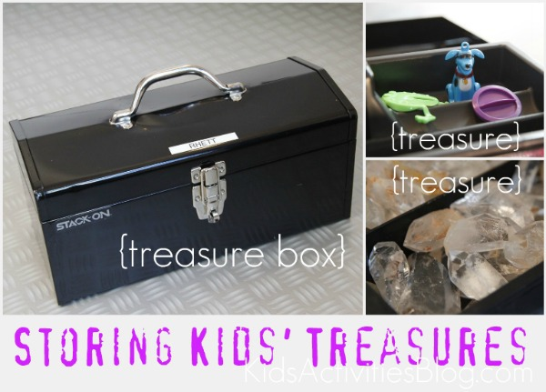organizing kids treasures