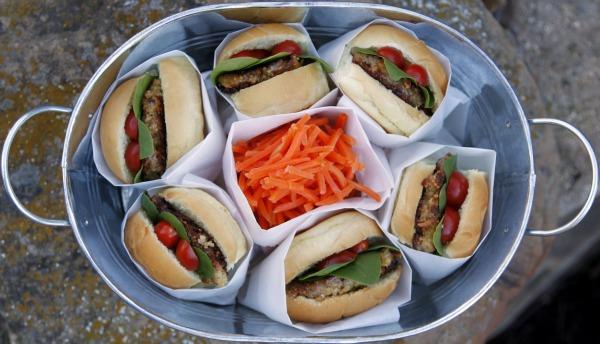 vegetarian slider picnic