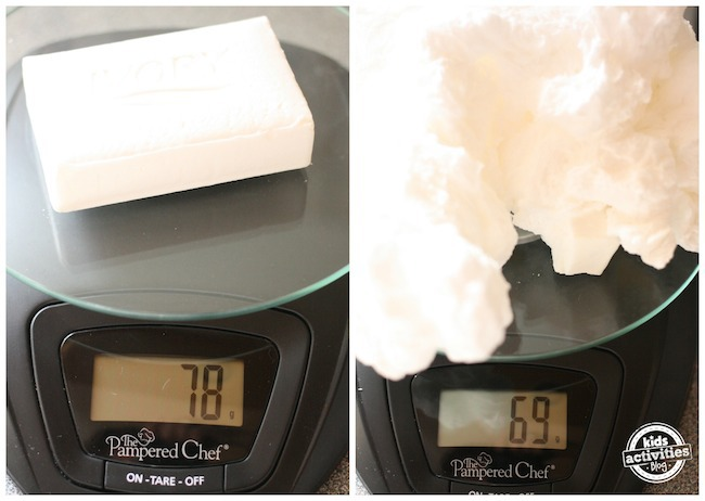 weighing Ivory Soap