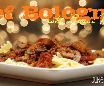 Beef bogognese with porcini mushrooms