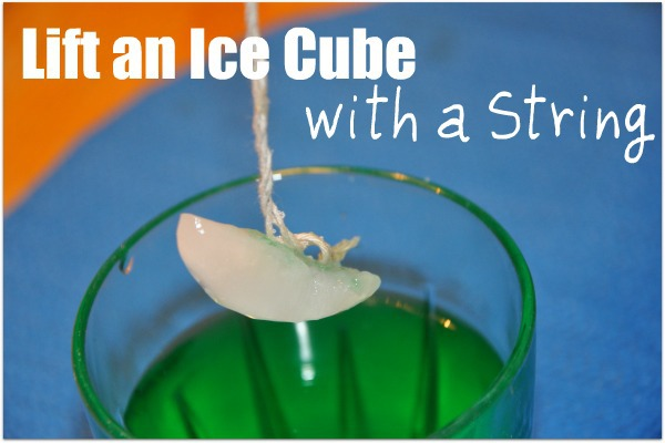 How to Lift an Ice Cube with a String