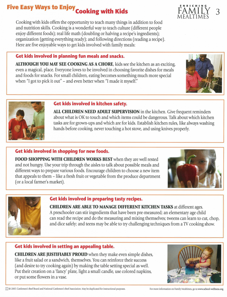 Five easy ways to enjoy cooking with kids page 1