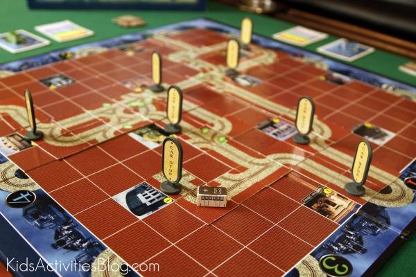 Streetcar Board Game board