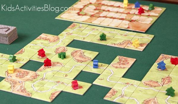 carcassonne board game board