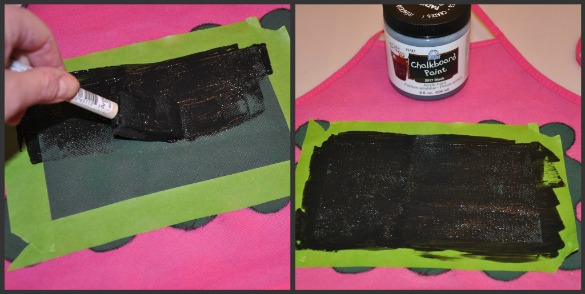 chalkboard paint on apron