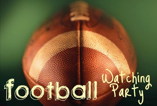 football watching party